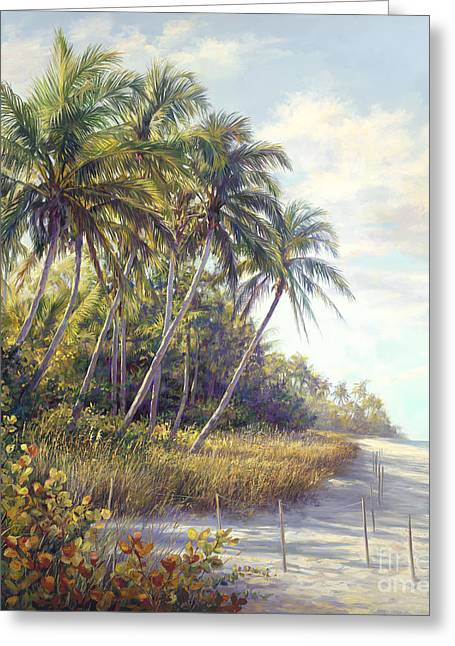 Beach Landscape Greeting Cards - Naples Beach Access Greeting Card by Laurie Hein