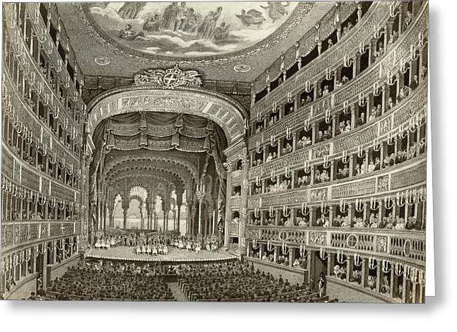 Naples Opera House Greeting Card by Granger