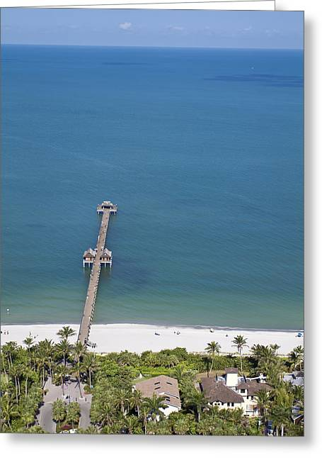 Touristy Greeting Cards - Naples Pier V Greeting Card by Patrick M Lynch