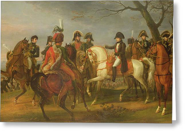 Emperors Greeting Cards - Napoleon 1769-1821 Giving Orders Before The Battle Of Austerlitz, 2nd December 1805, 1808 Oil Greeting Card by Antoine Charles Horace Vernet