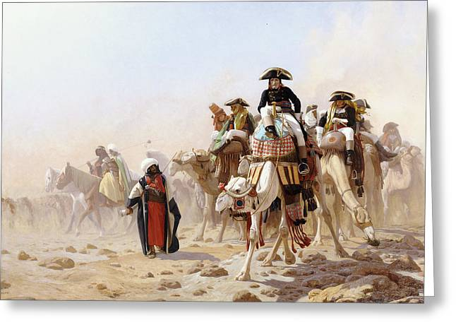 Napoleon Bonaparte Greeting Cards - Napoleon And His General Staff Greeting Card by Jean Leon Gerome