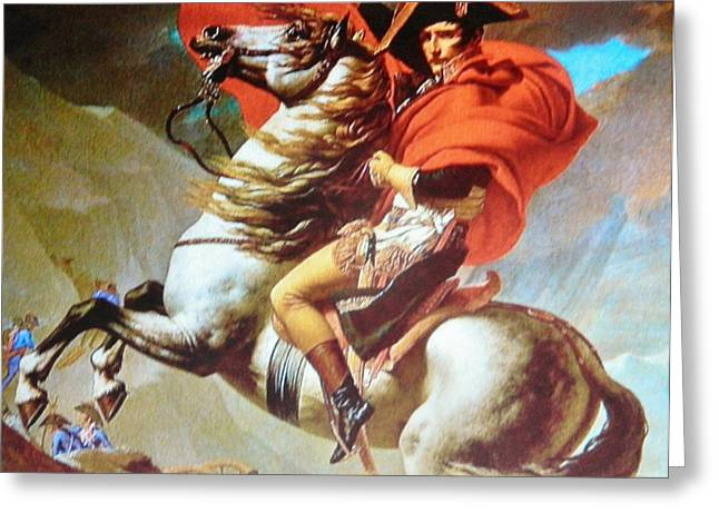 Gay Art Framed Giclee On Canvas Greeting Cards - NAPOLEON at War Greeting Card by Gunter  Hortz