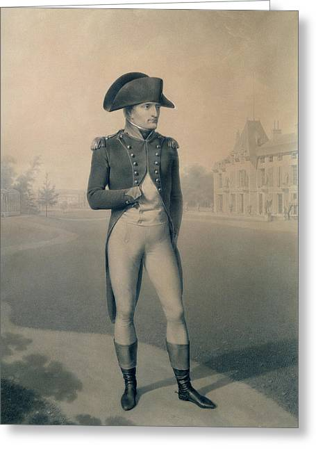Full-length Portrait Greeting Cards - Napoleon Bonaparte 1769-1821 First Consul At Malmaison, From Livre Du Sacre, 1804 Wc On Paper Greeting Card by Jean-Baptiste Isabey