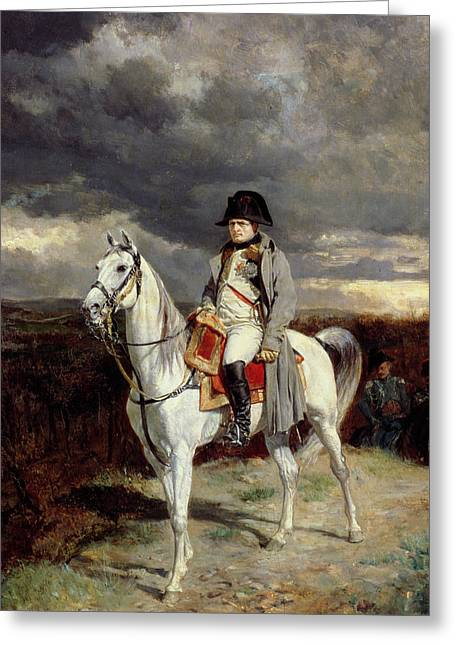 French Leaders Greeting Cards - Napoleon Bonaparte Greeting Card by Jean-Louis Ernest Meissonier