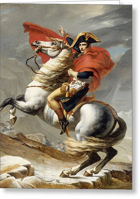 Revolutions Greeting Cards - Napoleon Bonaparte on Horseback Greeting Card by War Is Hell Store