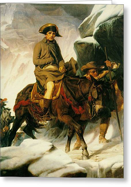 The Horse Greeting Cards - Napoleon Crossing the Alps Greeting Card by Paul  Delaroche