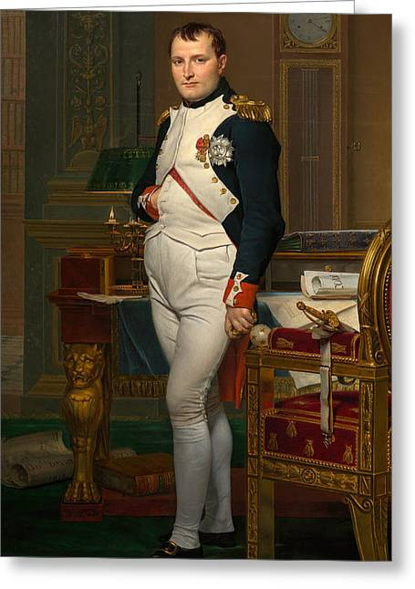 Product Greeting Cards - Emperor Napoleon in His Study at the Tuileries Greeting Card by War Is Hell Store