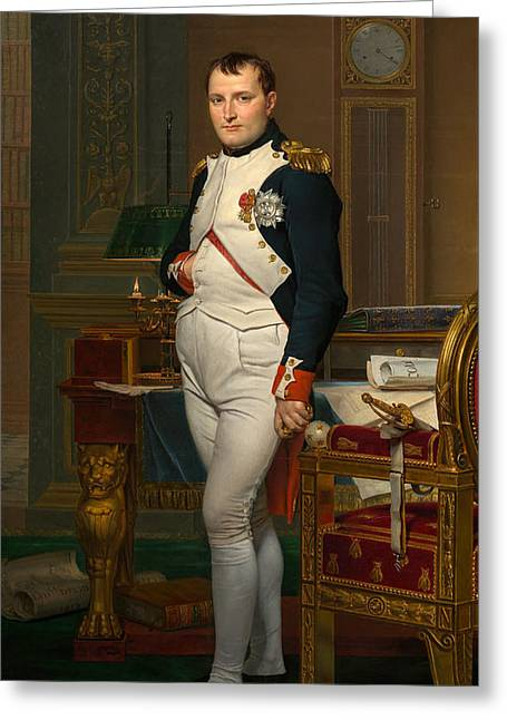 French Leaders Greeting Cards - Emperor Napoleon in His Study at the Tuileries Greeting Card by War Is Hell Store
