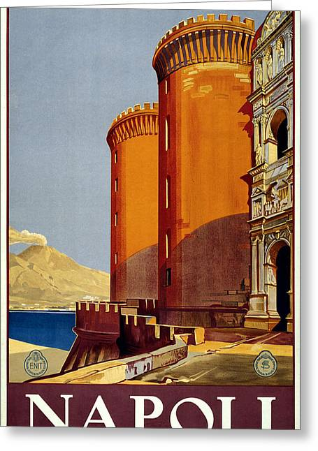 South Italy Greeting Cards - Napoli Italy Greeting Card by Nomad Art And  Design