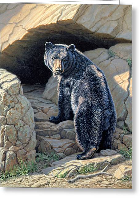 Black Bear Greeting Cards - Napping Place Greeting Card by Paul Krapf