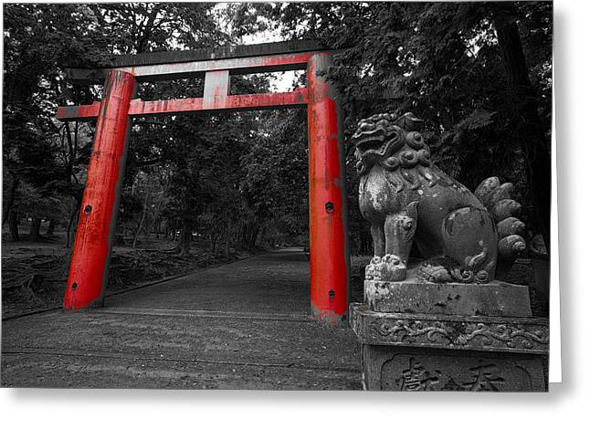 Nara Greeting Cards - Nara Park Japan Greeting Card by Daniel Hagerman