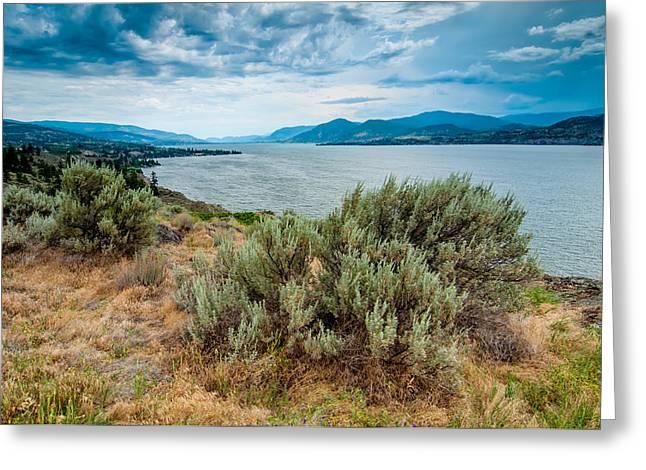 Naramata Greeting Cards - Naramatas Okanagan Lake Greeting Card by James Wheeler