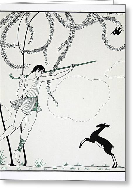 Ballet Dancers Greeting Cards - Narcisse Greeting Card by Georges Barbier