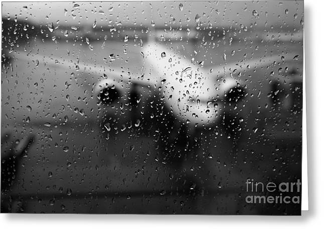 Taxiing Greeting Cards - Narita Goodbyes Greeting Card by Dean Harte