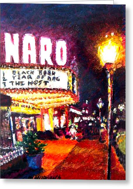 City Life Pastels Greeting Cards - Naro Nite Greeting Card by GW Hudgins