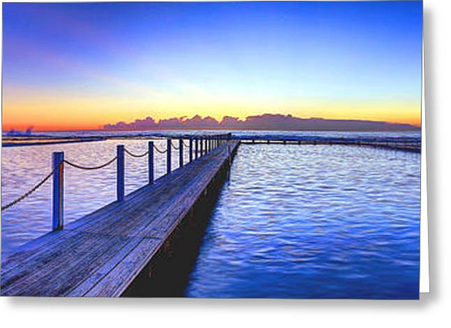 Vale Greeting Cards - Narrabeen Beach Greeting Card by Gene Yu