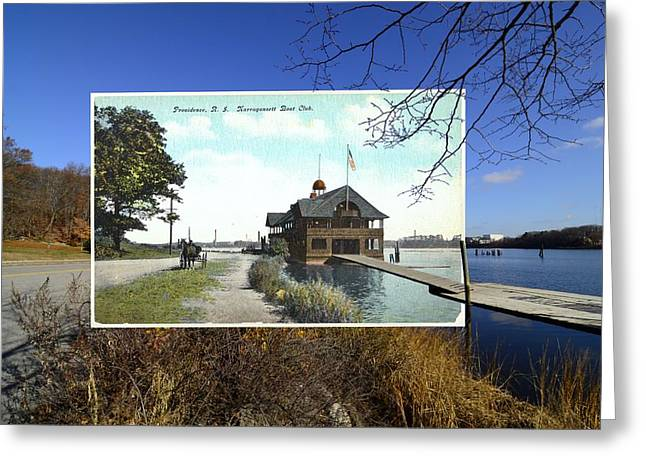 Scull Prints Greeting Cards - Narragansett Boat Club in Providence Rhode Island Greeting Card by Jeff Hayden