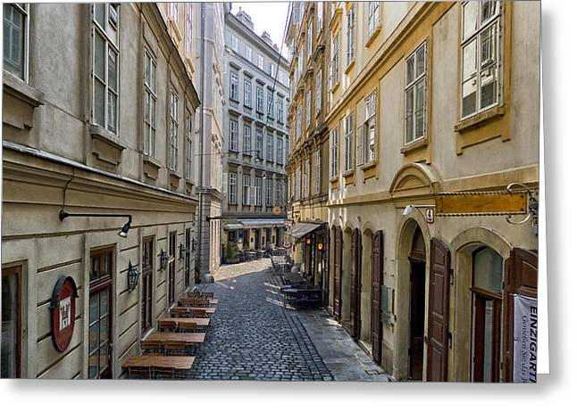Wien Greeting Cards - Narrow Passage Greeting Card by Mountain Dreams