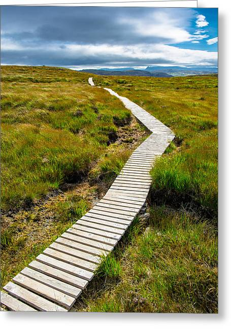 Go Forward Greeting Cards - Narrow path to the sky Greeting Card by Andreas Berthold