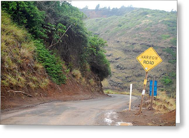Paradise Road Greeting Cards - Narrow Road - North Maui Greeting Card by Amy Fose