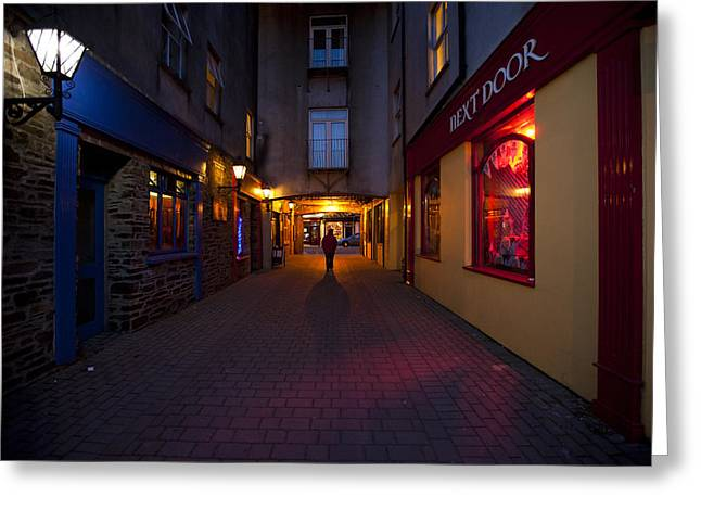 County Cork Greeting Cards - Narrow street in Clonakilty Greeting Card by Ruben Vicente