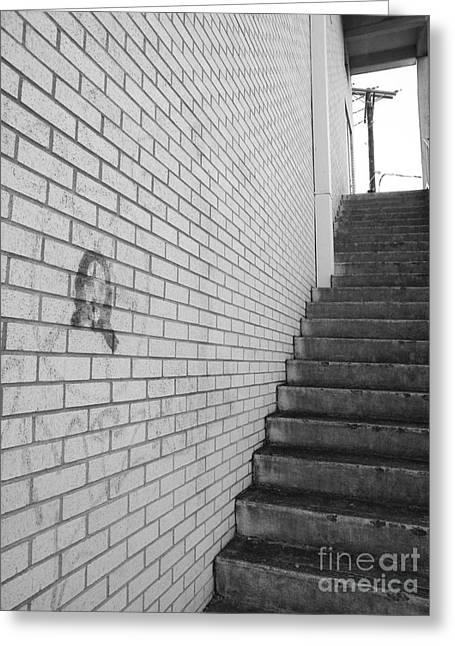 Graffiti Steps Greeting Cards - Narrow Way Greeting Card by Joe Jake Pratt