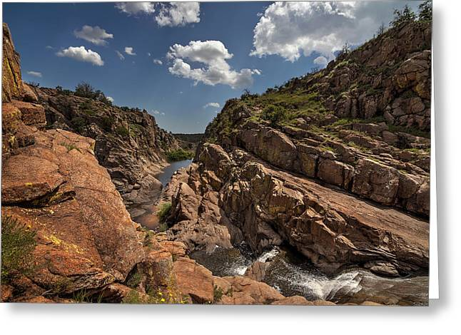 Narrow Canyons Greeting Cards - Narrows Canyon in the Wichita Mountains Greeting Card by Todd Aaron