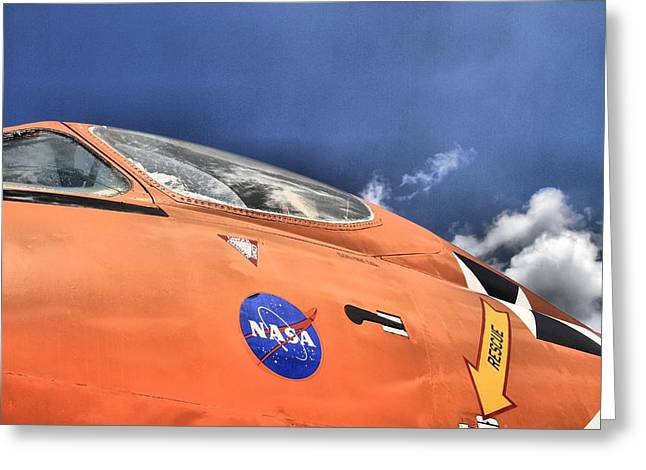 Sea Of Tranquility Greeting Cards - Nasa Flight Greeting Card by Dan Sproul