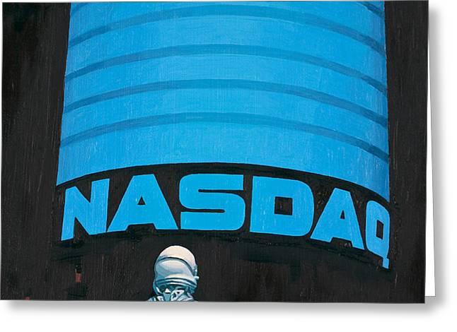 NASDAQ Greeting Card by Scott Listfield