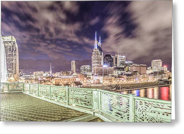 Nashville Greeting Cards - Nashville Cityscape  Greeting Card by John McGraw