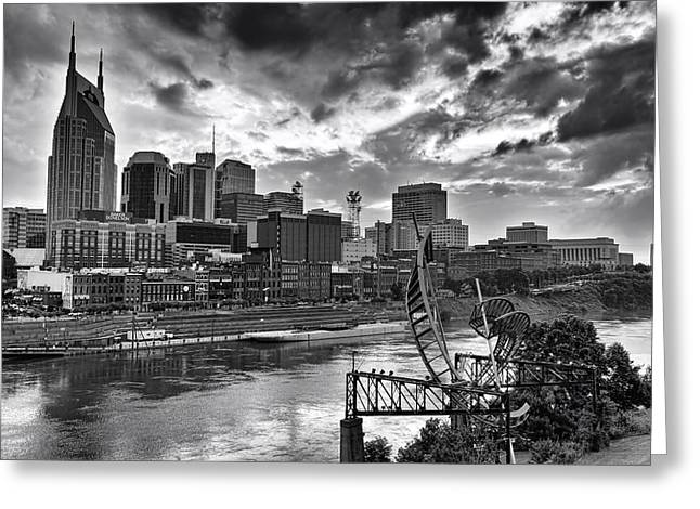 Nashville Tennessee Greeting Cards - Nashville Cloudy Day Greeting Card by Diana Powell