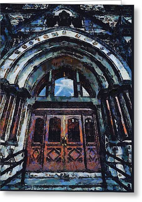Nashville Custom House Entrance Greeting Card by Dan Sproul