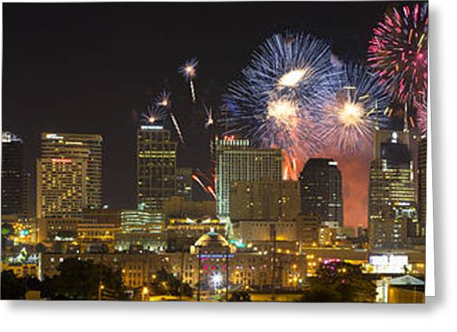 Nashville Tennessee Greeting Cards - Nashville Fourth of July 2014 Greeting Card by Dieter Spears