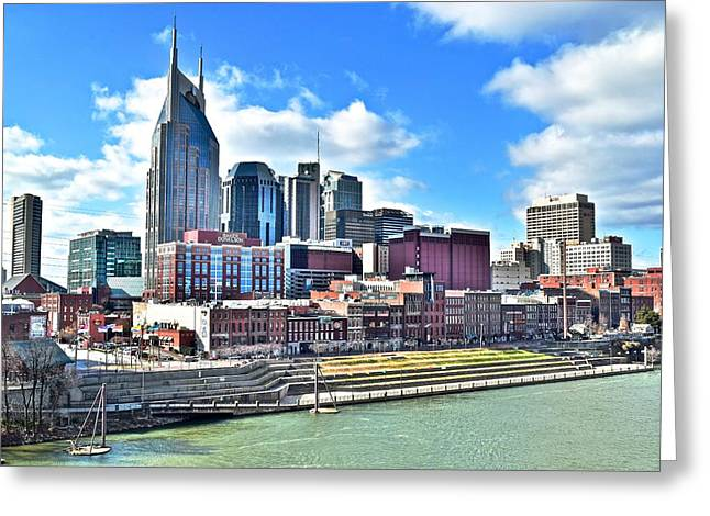 Nashville Greeting Cards - Nashville from Above Greeting Card by Frozen in Time Fine Art Photography