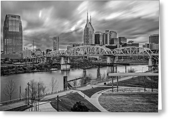 Tn Digital Art Greeting Cards - Nashville Frozen in Time Greeting Card by Brett Engle