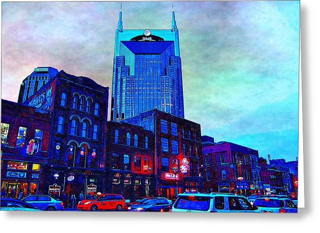 Tennessee Landmark Greeting Cards - Nashville Guardian Greeting Card by Glenn McCarthy Art and Photography