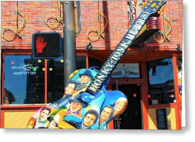 Nashville Legends Guitar Greeting Card by Dan Sproul