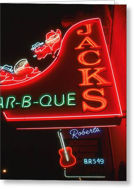Night Diner Prints Greeting Cards - Nashville Lights - Night Photo Greeting Card by Peter Fine Art Gallery  - Paintings Photos Digital Art