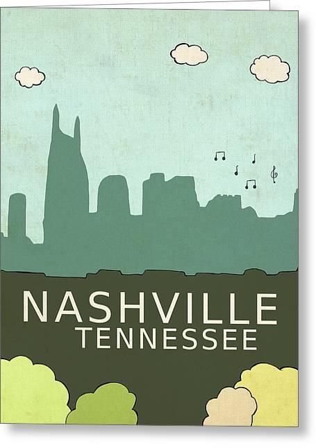 Nashville Greeting Card by Lisa Barbero