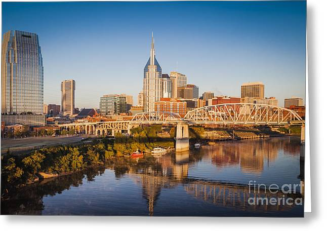 Nashville Tennessee Greeting Cards - Nashville Morning Greeting Card by Brian Jannsen