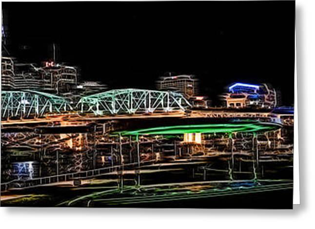 Tn Greeting Cards - Nashville Neon Greeting Card by Ken Everett