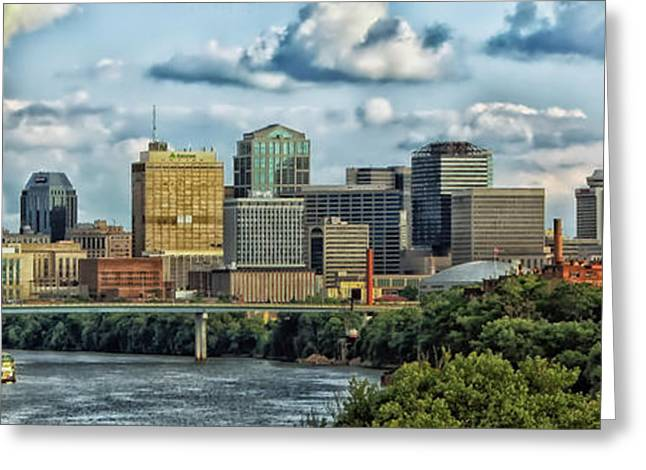 Nashville Panorama Greeting Cards - Nashville Panorama Greeting Card by Mountain Dreams