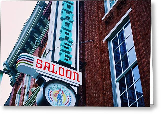 Nashville Downtown Greeting Cards - Nashville Saloon Greeting Card by Linda Unger