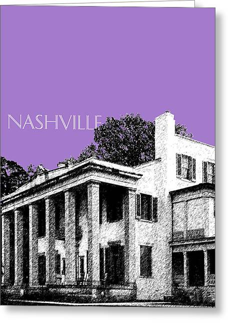 Nashville Tennessee Digital Greeting Cards - Nashville Skyline Belle Meade Plantation - Violet Greeting Card by DB Artist