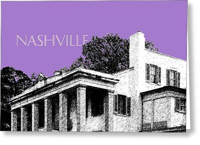 Nashville Skyline Belle Meade Plantation - Violet Greeting Card by DB Artist