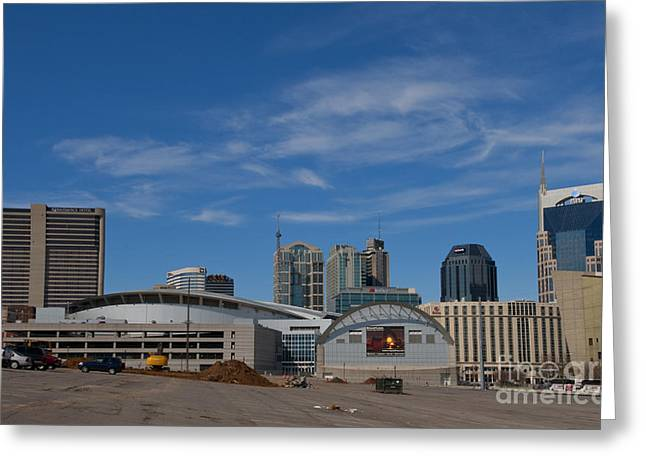 Nashville Tennessee Greeting Cards - Nashville Skyline Greeting Card by Bill Bachmann