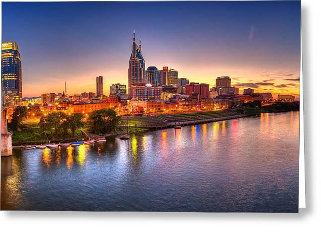 Nashville Skyline Greeting Card by Brett Engle