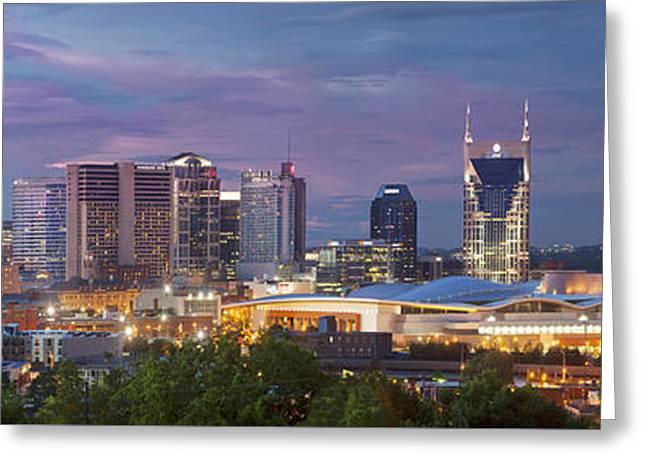 Nashville Skyline Greeting Card by Brian Jannsen