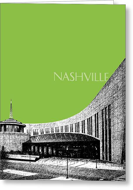 Nashville Tennessee Digital Greeting Cards - Nashville Skyline Country Music Hall of Fame - Olive Greeting Card by DB Artist
