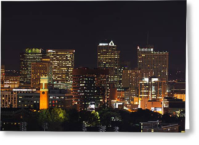 Nashville Tennessee Greeting Cards - Nashville Skyline Greeting Card by Houston Haynes